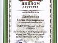 Диплом лауреата за победу в международном конкурсе «Музыкальный руководитель XXI века»